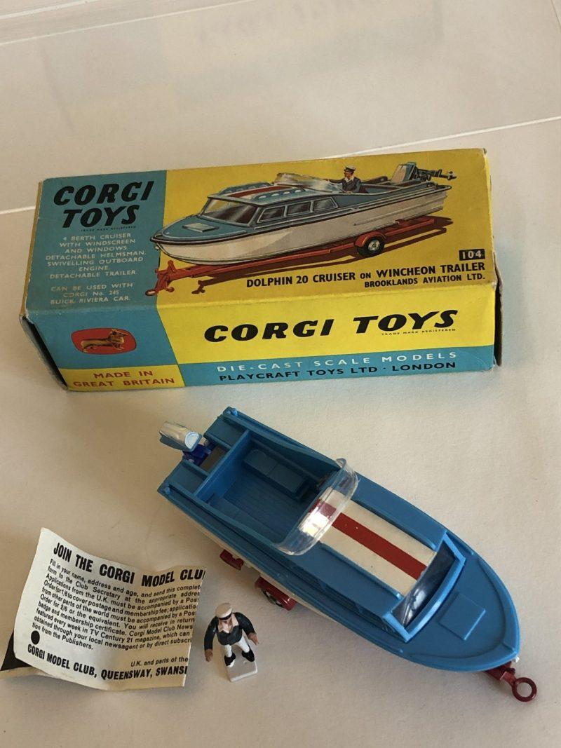 Corgi 104 Dolphin 20 Cabin Cruiser Boat