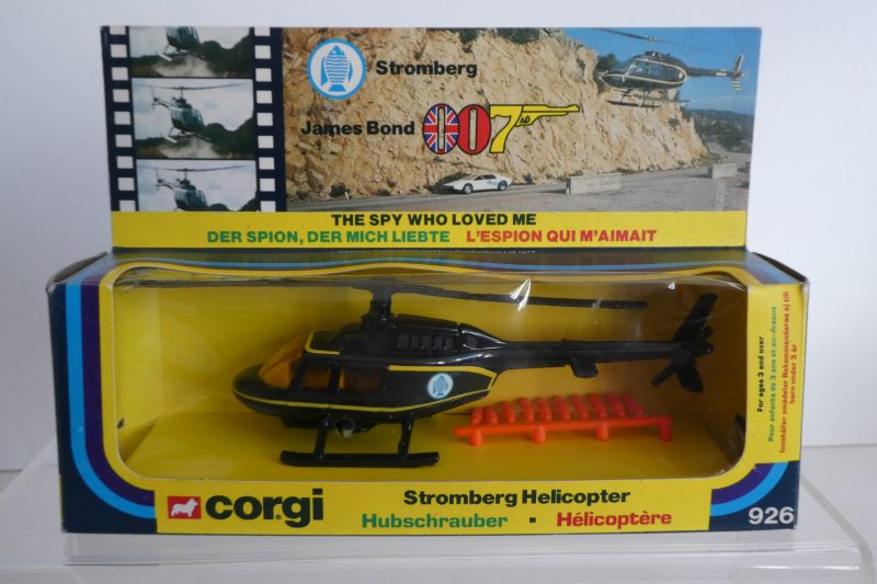 Corgi 926 James Bond The Spy Who Loved Me Stromberg Helicopter